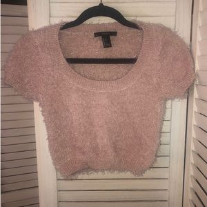 Fuzzy pale Pink 💕 top